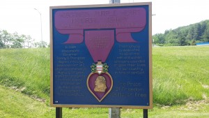 Purple Heart City sign