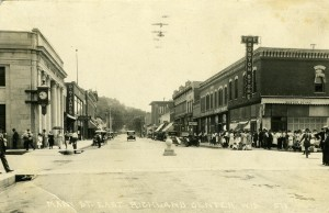 The intersection of Central and Court Streets (Arbegust photo collection).